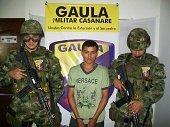 GAULA MILITAR CASANARE CAPTURÓ EN TAME A EXTORSIONISTA DE LAS FARC
