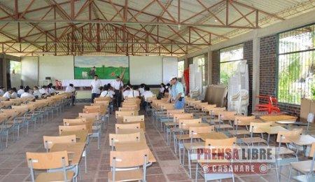 MOBILIARIO ESCOLAR PARA EL COLEGIO DE MONTAÑAS DEL TOTUMO EN PAZ DE ARIPORO