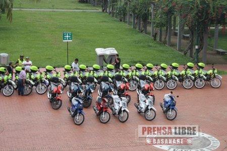 26 MOTOCICLETAS QUE VALIERON 475 MILLONES DE PESOS SERÁN ENTREGADAS HOY A LOS ORGANISMOS DE SEGURIDAD EN YOPAL