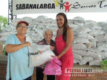 PAQUETES NUTRICIONALES Y KITS DE ASEO PARA 330 ABUELOS DE SABANALARGA