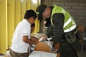 AUTORIDADES REALIZARON OPERATIVO EN EL MEGACOLEGIO DE LA COMUNA V EN BUSCA DE DROGAS Y ARMAS