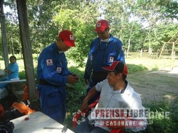LA CRUZ ROJA REALIZÓ SIMULACRO DE EMERGENCIA EN LA VEREDA ISLA TURBAYISTA DE AGUAZUL