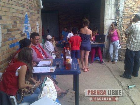 """AYER SE REALIZÓ BRIGADA DE SALUD EN INVASIÓN """"15 DE OCTUBRE"""" EN YOPAL"""