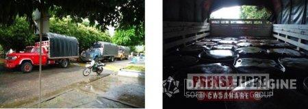 POLICÍA ARAUCA INCAUTÓ 6490 GALONES DE COMBUSTIBLE QUE TENÍAN COMO DESTINO EL DEPARTAMENTO DE CASANARE