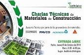 CHARLAS TÉCNICAS EN UNITRÓPICO SOBRE MATERIALES PARA CONSTRUCCIÓN