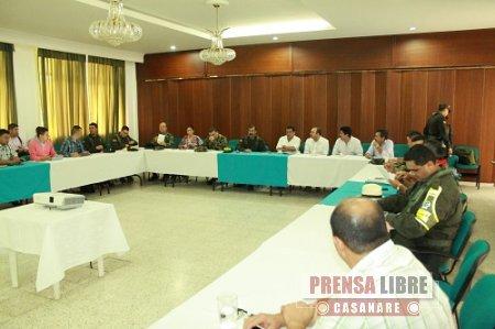 COMANDANTE DE LA POLICÍA SE REUNIÓ CON ARROCEROS DE CASANARE