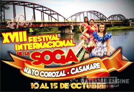 XVIII FESTIVAL INTERNACIONAL DE LA SOGA EN HATO COROZAL DEL 10 AL 14 DE OCTUBRE