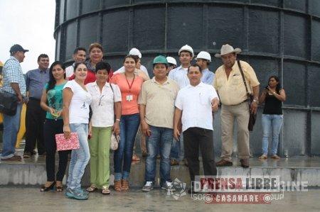 EN YOPAL PRESIDENTES DE JUNTAS DE ACCIÓN COMUNAL DE LA  COMUNA CINCO VISITARON LA PLANTA MODULAR DE AGUA POTABLE