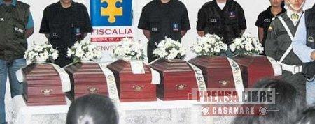 HOY SE ENTREGAN RESTOS ÓSEOS DE VÍCTIMAS DE LA VIOLENCIA EN CASANARE