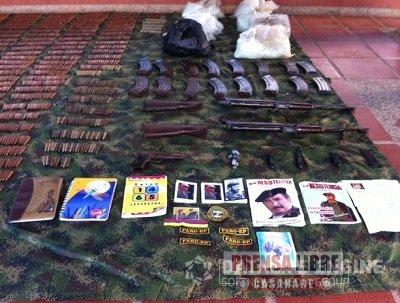EJÉRCITO NACIONAL HALLÓ EN TAME ARSENAL PERTENECIENTES AL FRENTE 38 DE LAS FARC