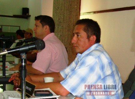 CONCEJO DE YOPAL LAMENTÓ MUERTE DEL CONCEJAL JAVIER MILLÁN