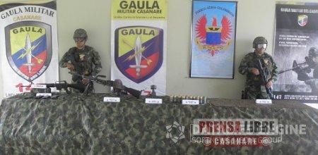GAULA MILITAR CASANARE Y FUERZA AÉREA HALLARON CALETA DE LAS FARC EN HATO COROZAL