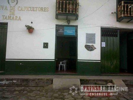 INCENDIO EN LA COOPERATIVA DE CAFICULTORES DE TÁMARA GENERÓ PÁNICO EN LA POBLACIÓN
