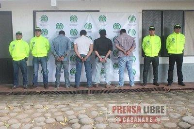CAPTURADOS OCHO PELIGROSOS INTEGRANTES DE LA DISIDENCIA DE LAS BACRIM DEDICADOS AL SICARIATO