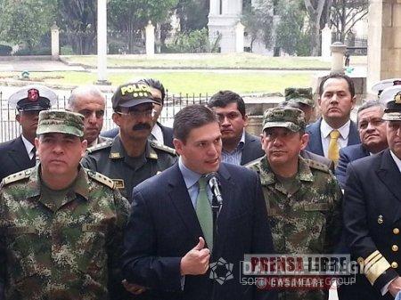 ESTE LUNES EL MINISTRO DE DEFENSA JUAN CARLOS PINZÓN ENCABEZA CONSEJO DE SEGURIDAD EN YOPAL