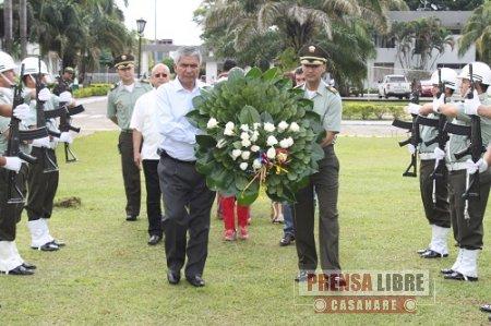 CEREMONIA CONMEMORATIVA EN YOPAL DE LOS 122 AÑOS DE LA POLICÍA NACIONAL