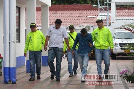 EN YOPAL FUERON CAPTURADOS RESPONSABLES DE ATRACO Y TENTATIVA DE HOMICIDIO A COMERCIANTE