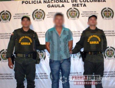 """GAULA DEL META CAPTURÓ EN YOPAL A PELIGROSO DELINCUENTE ALIAS """"EL TÍO"""""""