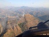 """Fuerza Aérea tuvo que intervenir en extinción de incendio en el cerro """"El venado"""" de Yopal"""