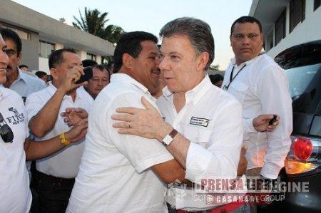 Recursos para proyectos prioritarios para Yopal solicitó Alcalde Celemín al Presidente Santos