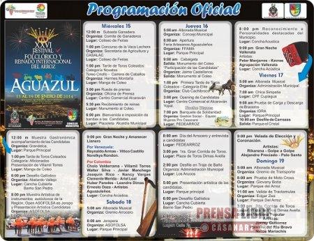 XXVI Festival Folclórico y Reinado Internacional del Arroz