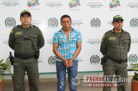 Policía capturó en Pore a miliciano del Frente 28 de las FARC