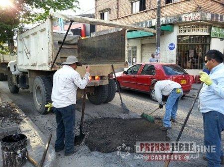Nuevo reparcheo a las calles de Yopal