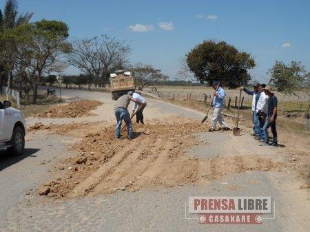 Se realizó Mantenimiento de la vía Maní - Aguazul