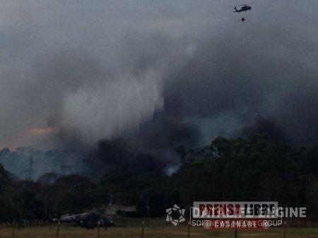 Colapso de línea eléctrica originó incendio forestal en Yopal