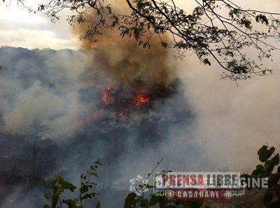 Incendios forestales azotaron el departamento durante el fin de semana