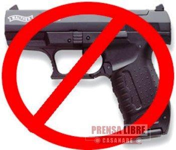 Restringido el porte de armas en Yopal