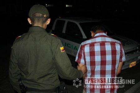 21 personas capturó la Policía Nacional durante el fin de semana en Casanare