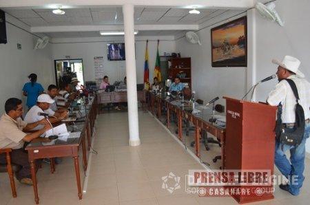 Instaladas sesiones ordinarias en el concejo de Paz de Ariporo