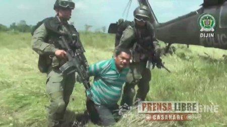 Cabecilla de la banda criminal 'Erpac libertadores del Vichada' fue capturado en el Meta