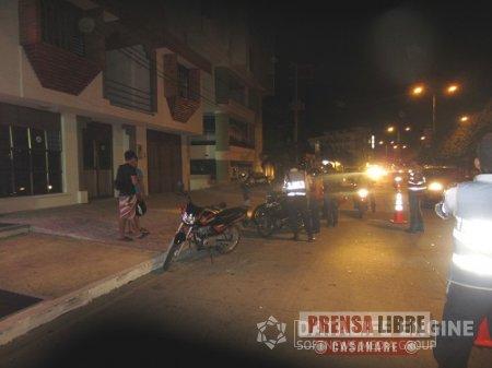 En Yopal 25 motocicletas fueron inmovilizadas en controles por no utilización de chaleco reflectivo