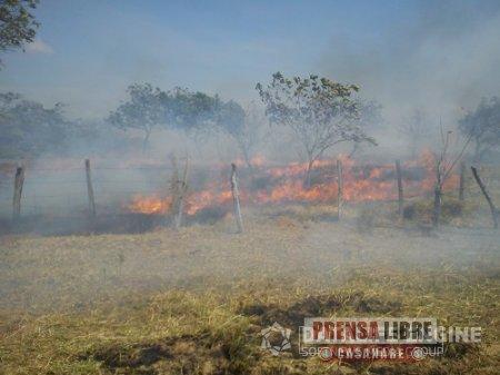 140 incendios forestales y más de 800 hectáreas quemadas durante lo corrido del año en Yopal