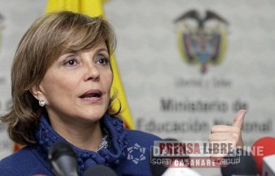 Ministra de Educación Nacional María Fernanda Campo visita Yopal