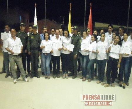 Ayer se graduaron  promotores de convivencia y seguridad en el barrio Villa Lucia de Yopal