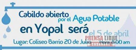 Quienes deseen participar en Cabildo Abierto por el Agua en Yopal deben radicar ponencias en el Concejo antes del 01 de abril a las 5:00 p.m
