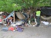 Policía derriba sitios dedicados a la venta y consumo de estupefacientes en el Parque La Iguana