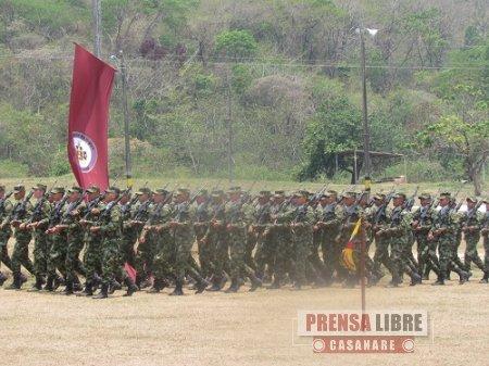 Juró bandera grupo de soldados que apoyarán la recuperación del Parque La Iguana de Yopal
