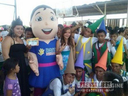 Ministerio de Defensa Nacional conmemoró el mes de la infancia  y la adolescencia  en Vichada