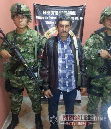 Capturado cabecilla principal de las redes de apoyo del frente Adonay Ardila Pinilla del ELN
