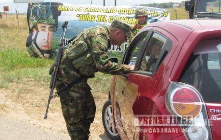 Ejército dispuso de más de 1500 soldados en Casanare y Nororiente de Boyacá para garantizar seguridad en Semana Santa