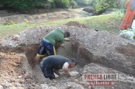 Ingenieros Militares realizan pozos profundos en zona de emergencia en Paz de Ariporo