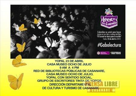 """""""Gabolectura"""", en el día del idioma Casanare rinde Homenaje García Márquez"""