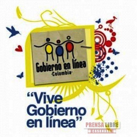 Casanare ocupó el tercer lugar en el Ranking Nacional de Gobierno en Línea