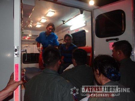 Fuerza Aérea Colombiana realiza evacuación de menor enfermo desde Orocué